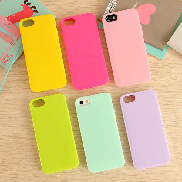 【SZ】iPhone 6s iPhone 6/6 Plus 超薄實色果凍 iphone5S手機殼 保護套 矽