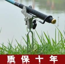 [協貿國際]  全金屬砲台支架釣魚手竿海竿兩用