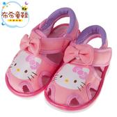 《布布童鞋》HelloKitty凱蒂貓粉色蝴蝶結布質兒童嗶嗶涼鞋(12.5~15公分) [ C8H107G ]