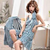 睡衣 吊帶睡裙女夏季韓版清新學生公主少女生寬鬆甜美可愛純棉夏天睡衣  瑪麗蘇