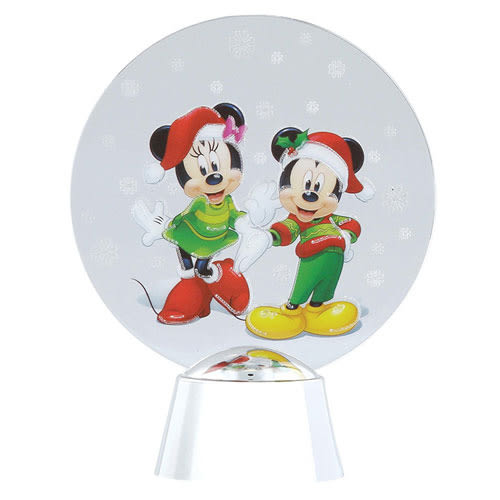 《Enesco》迪士尼壓克力迷你LED擺飾燈(聖誕米奇米妮)★funbox生活用品★ EN92174