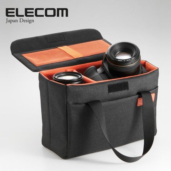 攝影包ELECOM宜麗客單眼相機內膽包鏡頭手提箱offtoco攝影包