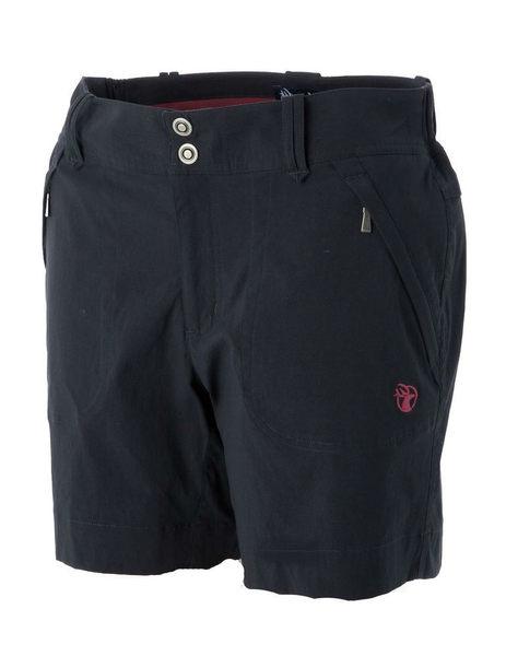 荒野 女 彈性抗UV短褲 休閒短褲 登山短褲 抗紫外線 吸濕快乾 排汗透氣 輕薄 0A51381-54 黑色