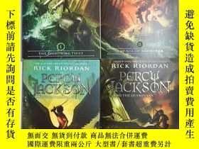 二手書博民逛書店Percy罕見Jackson Book 1.2.3.5 [最後的奧林匹亞神] Rick Riordan(雷克·萊爾