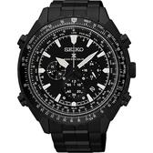 SEIKO 精工 PROSPEX 電波修正功能計時碼錶-鍍黑/46mm 8B92-0AK0SD(SSG003P1)