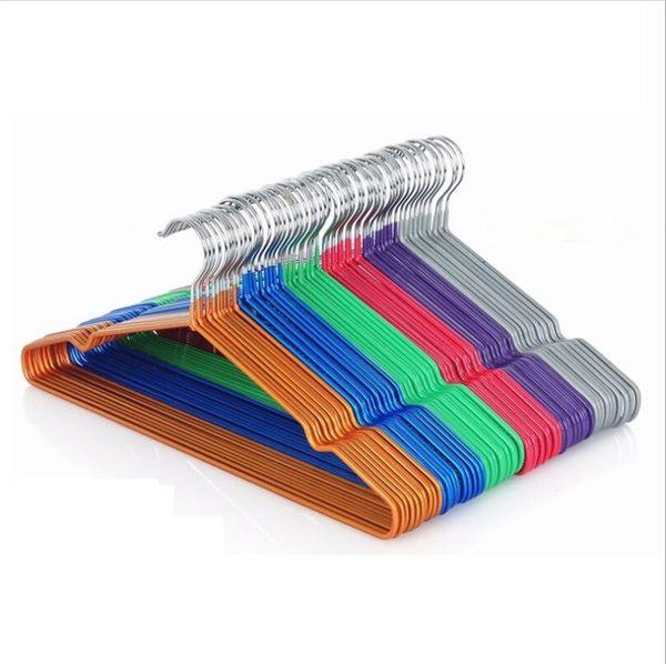 [拉拉百貨]新款 浸塑帶覆膜凹槽 加粗衣架 防滑 晾衣架 衣架