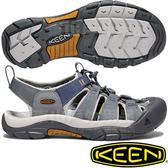 KEEN 1018816鐵灰/灰藍 Newport Hydro男戶外護趾涼鞋 水陸兩用溯溪鞋/運動健走鞋/沙灘戲水拖鞋