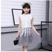 2017新款兒童韓版套裙夏季衣服女公主短袖兩件套ASD109【123休閒館】