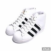 ADIDAS 女 休閒鞋 SUPERSTAR UP W 高筒 增高 白-FW0118