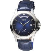 Ogival愛其華 尊爵時尚機械男錶-藍/40mm 3353-7AMS藍