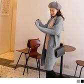 《FA2161-》親膚系列.純色針織開襟長版毛衣外套 OB嚴選