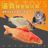 逗貓玩具貓咪互動寵物玩具 貓薄荷仿真鯽魚【聚寶屋】