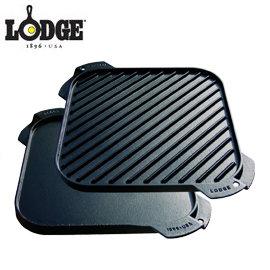 丹大戶外用品【LODGE】LSRG3 Reversible Griddle 10½吋方形煎盤 鑄鐵材質/會釋放鐵離子使食材更好吃