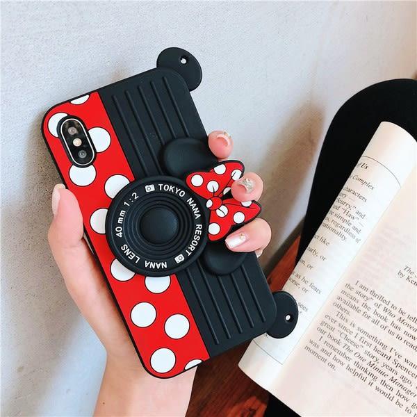 【SZ24】卡通米妮掛繩相機手機殼 iphone xr手機殼 iphone 8 plus手機殼 iphone7plus手機殼 iphone xs max 手機殼