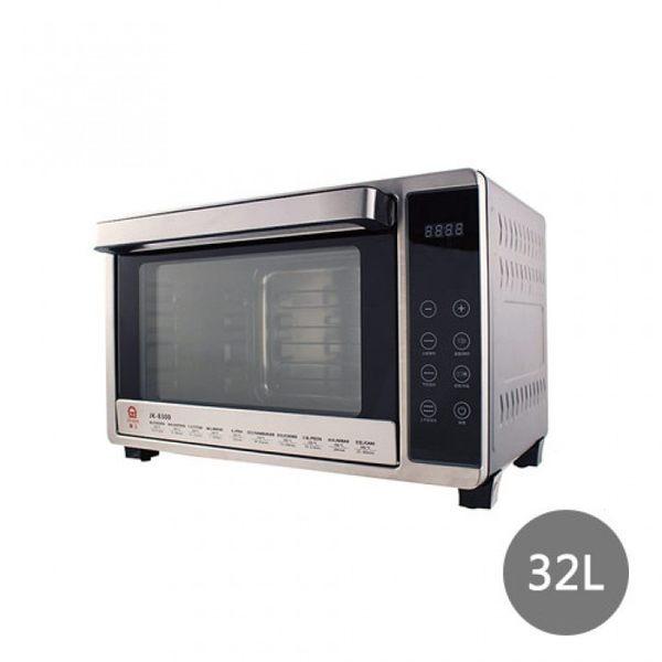 *假日特殺*【晶工牌】32L微電腦雙溫控不鏽鋼旋風烤箱 JK-8300