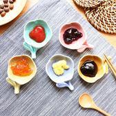 日式糖果色陶瓷花朵筷架小碟子 調味碟醋碟醬油碟火鍋調料碟 挪威森林