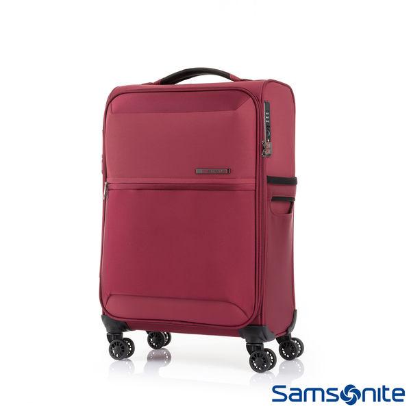 Samsonite新秀麗 20吋72H DLX 飛機輪TSA極輕量布面登機箱(紅)