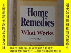 二手書博民逛書店英文原版罕見Home Remedies: What Works