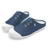 PLAYBOY 百搭首選 穆勒帆布鞋-藍(Y5209)