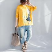 純棉刺繡T恤女 秋裝微胖mm洋氣大尺碼長袖上衣 秋季新品