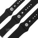 Watchband / 18.20.22 mm / 各品牌通用 快拆錶耳 輕盈舒適 運動型 穿式按夾扣 矽膠錶帶 黑色 #836-11-BK