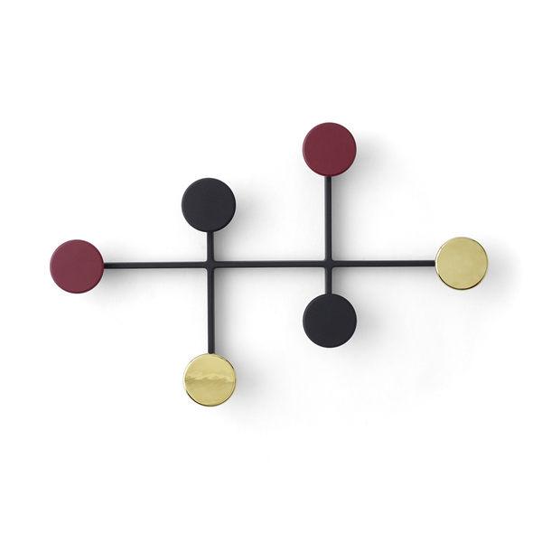 丹麥 Menu Afteroom Coat Hanger 圓點幾何系列 壁面 衣帽架 / 衣架 - 金屬色系版(黑色黃銅色組合)