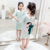 兒童洋裝 女童夏裝洋裝新款韓版棉布洋氣兒童短袖女孩超仙中長款t恤裙子