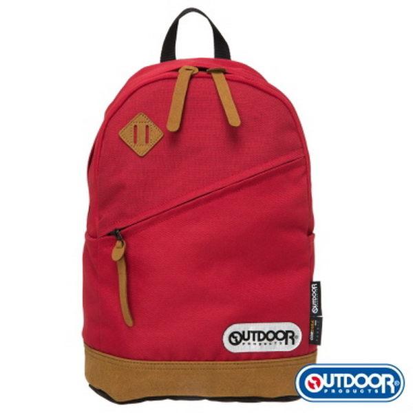 OUTDOOR - 率真年代系列-皮底小後背包-紅 OD62027RD