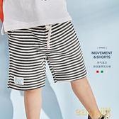 兒童夏裝條紋短褲2018新款小童休閒褲
