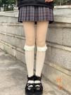 蕾絲小腿襪子女洛麗塔網紗lolita長襪中筒jk襪子花邊【橘社小鎮】