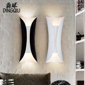 一件85折-壁燈 北歐現代簡約鐵藝電視牆壁燈過道樓梯臥室床頭燈歐式酒店走廊壁燈WY