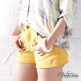 Victoria 天絲棉高腰短褲-女-黃