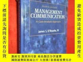 二手書博民逛書店Management罕見Communication (16開,硬