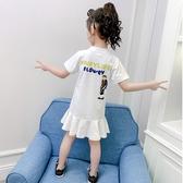 女童連身裙 童裝女童連身裙夏裝2020新款中大童兒童夏款時尚洋氣純棉短袖裙子 寶貝計書