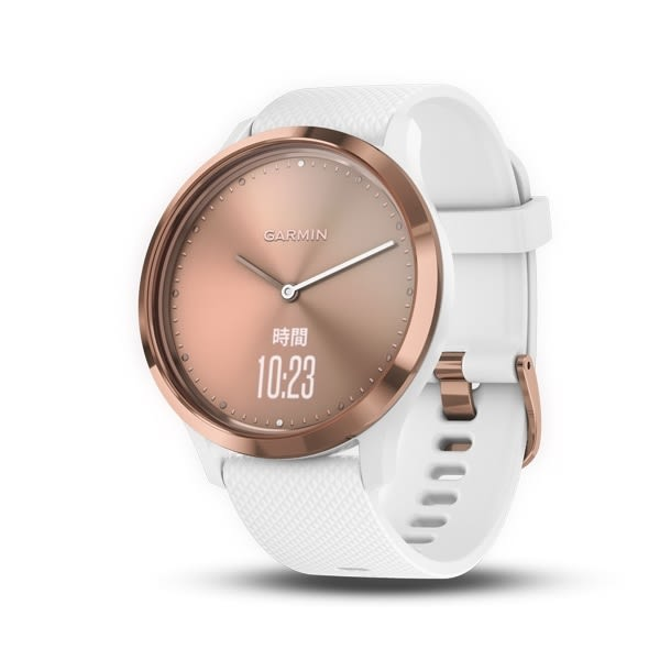 GARMIN vívomove™ HR 時尚智慧腕錶-運動款(簡約玫瑰金)