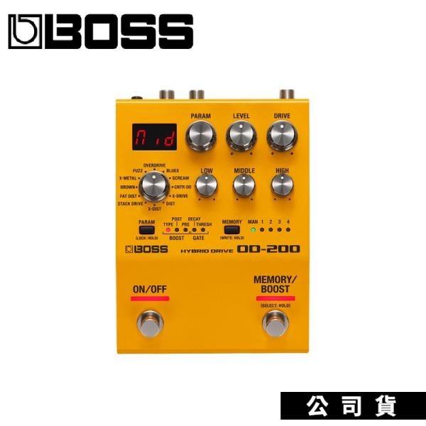 【南紡購物中心】BOSS OD-200 Hybrid Drive overdrive distortion 增益破音效果器