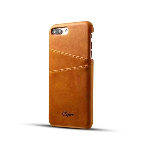 手機配件 適用iphone6 6s真皮手機殼復古小牛皮插卡后殼iPhone 6plus保護殼手機殼 手機套 皮套