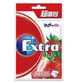 Extra木糖醇口香糖超值包-沁甜草莓口味  62g【愛買】
