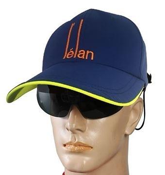【L'elan】太陽眼鏡休閒帽(鏡帽合一) 寶藍色