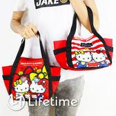 〖LifeTime〗﹝Kitty餃型便當袋﹞正版手提餐袋 便當袋 水壺袋 凱蒂貓 B19080
