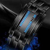 男士電子錶韓版時尚潮流創意個性手錶防水學生青少年腕錶