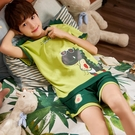 兒童睡衣男童夏季薄款短袖純棉大男孩12中大童15歲家居服夏天套裝 童趣屋 免運