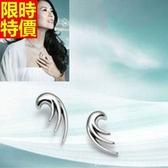 耳環 925純銀 -生日情人節禮物奢華俐落女款耳飾7k78[巴黎精品】