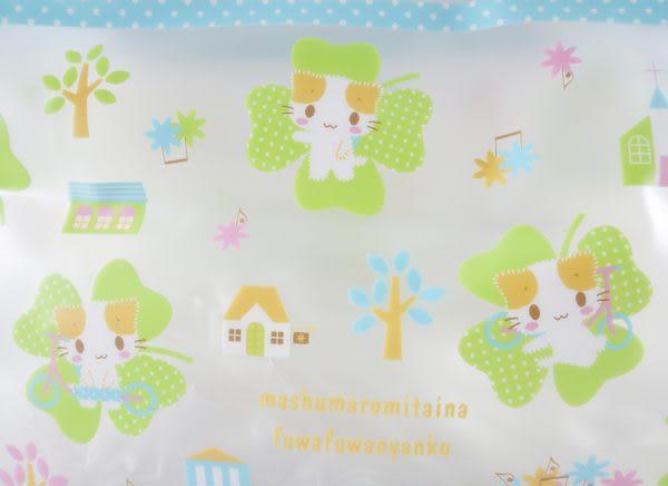 【震撼精品百貨】Mashumaro 棉花糖貓~透明手提袋海灘袋補習袋『苜蓿』