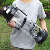 超大容量水杯3000ml太空杯便攜塑料運動健身水壺戶外大號杯子2000 卡布奇诺