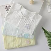 嬰兒連身衣服純棉空調服薄款新生兒哈衣全棉夏季初生寶寶睡衣夏天 幸福第一站