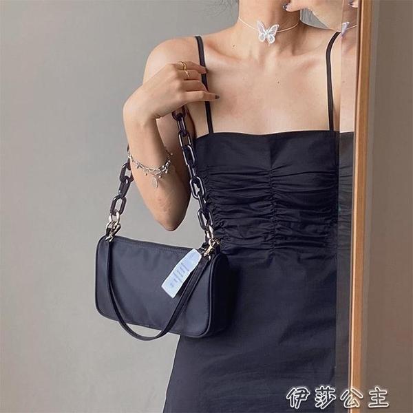 腋下包韓國小眾設計師JENNIE同款包包女夏新款單肩斜背鍊條腋下包潮【快速出貨】