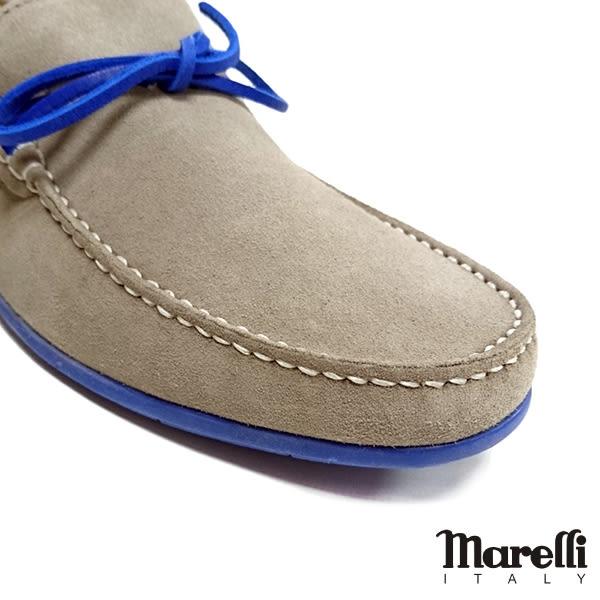 【Marelli】反絨帆船休閒鞋 灰色(54958-GYS)