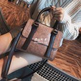 手提包  包包女女包韓版簡約百搭手提包小方包單肩斜挎小包潮 『伊莎公主』