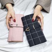 長錢夾—新款手拿女士錢包女長款大容量多功能磨砂時尚錢夾皮夾日韓版 草莓妞妞